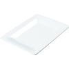 "Carlisle Designer Displayware Wide Rim Rectangle Platter 14"" x 10"" - White CFS 4441402CS"