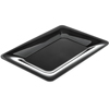 "Carlisle Designer Displayware Wide Rim Rectangle Platter 14"" x 10"" - Black CFS4441403CS"