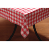 "Carlisle Classic Series Tablecloth Check 52"" x 52"" - Red CFS 51515252SM001CS"