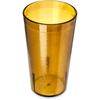 Carlisle Stackable SAN Plastic Tumbler 12 oz - Amber CFS 521213CS