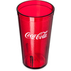 Carlisle Coca-Cola® Stackable SAN Plastic Tumbler 16 oz - Coke - Ruby CFS 52163550DCS