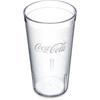 Carlisle Coca-Cola® Stackable SAN Plastic Tumbler 16 oz - Coke - Clear CFS 52163550ECS