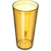 Carlisle Stackable SAN Plastic Tumbler 20 oz - Amber CFS 522013CS
