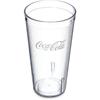 Carlisle Coca-Cola® Stackable SAN Plastic Tumbler 20 oz - Coke - Clear CFS 52203550ACS