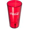 Carlisle Coca-Cola® Stackable SAN Plastic Tumbler 20 oz - Coke - Ruby CFS 52203550CS