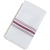 "Carlisle SoftWeave Bistro Striped Napkin 18"" x 22"" - Maroon CFS 53771822NH023CS"