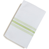 "Carlisle SoftWeave Bistro Striped Napkin 18"" x 22"" - Lime Green CFS 53771822NH076CS"