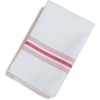 "Carlisle SoftWeave Bistro Striped Napkin 18"" x 22"" - Raspberry CFS 53771822NH148CS"