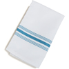 "Carlisle SoftWeave Bistro Striped Napkin 18"" x 22"" - Belize Blue CFS 53771822NH630CS"