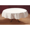"Carlisle SoftWeave Round Tablecloth 76"" - White CFS 537876RM010CS"