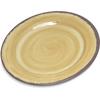 "Carlisle Mingle Melamine Bread And Butter Plate 7"" - Amber CFS 5400713CS"