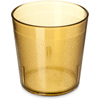 Carlisle Stackable Old Fashion SAN Plastic Tumbler 9 oz - Cash  Carry (6/pk) - Amber CFS 5529-8113CS