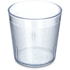 Carlisle Stackable Old Fashion SAN Plastic Tumbler 9 oz - Clear CFS 552907CS