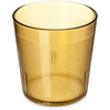 Carlisle Stackable Old Fashion SAN Plastic Tumbler 9 oz - Amber CFS 552913CS