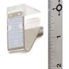 "Carlisle Standard Metal Skirting Clip, Hook  Loop Header - 12 pack 3/4"" - Clear CFS 5CC118MP-12CS"