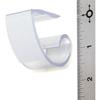 "Carlisle Standard Plastic Skirting Clip, Hook  Loop Header - 12 Pack 1"" - Clear CFS 5CCCCLIP-12CS"