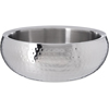 "Serving Bowl w/Hammered Finish 4.38 qt, 10-3/4"" - Stainless Steel"