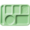Carlisle Left-Hand 6-Compartment Tray - Green CFS 61409CS