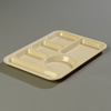 Carlisle Left-Hand 6-Compartment Tray - Tan CFS 61425CS