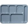 Carlisle Left-Hand 6-Compartment Tray - Slate Blue CFS 61459CS