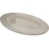 "Carlisle Grove Melamine Oval Plate 12"" x 8"" - Buff CFS 6402006CS"