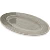 "Carlisle Grove Melamine Oval Plate 12"" x 8"" - Smoke CFS 6402018CS"