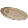 "Carlisle Grove Melamine Oval Plate 12"" x 8"" - Adobe CFS 6402070CS"
