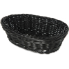 "Carlisle Woven Baskets Oval Basket Small 9"" - Black CFS 655003CS"