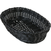 "Carlisle Woven Baskets Oval Basket 11.5"" - Black CFS 655103CS"