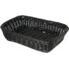 "Carlisle Woven Baskets Rectangular Basket 11.5"" - Black CFS 655203CS"