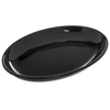 "Designer Displayware 2 qt Oval Platter 14"" x 10"" - Black"