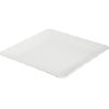 "Displayware Square Medium Scalloped Tray 17""SQR - White"