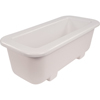 "Carlisle Coldmaster® 6"" Deep Half-Size Long Coldpan - White CFSCM104302CS"