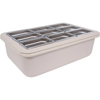 "Carlisle Coldmaster® 6"" Deep Full-Size Coldpan with Organizer - White CFS CM104902CS"