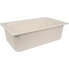 "Carlisle Coldmaster® 6"" Deep Full-Size Food Pan 15 Qt - White CFS CM110002CS"