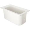 "Carlisle Coldmaster® 6"" Deep Third-Size Food Pan - White CFS CM110202CS"