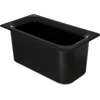 "Carlisle Coldmaster® 6"" Deep Third-Size Food Pan - Black CFS CM110203CS"
