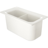 "Carlisle Coldmaster® 6"" Third-Size Divided Food Pan - White CFS CM110302CS"