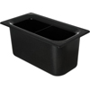 "Carlisle Coldmaster® 6"" Third-Size Divided Food Pan - Black CFS CM110303CS"