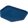 """Cafe® Trapezoid Fast Food Cafeteria Tray 18"""" x 14"""" - Blue"""