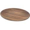 "Carlisle Epicure® Acacia Grain Oval Platter 18"" x 15"" - Dark Woodgrain CFS EAG0469CS"