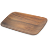 "Carlisle Epicure® Acacia Grain Rectangle Tray 13.875"" x 7.75"" - Dark Woodgrain CFS EAG0569CS"