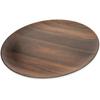 "Carlisle Epicure® Acacia Grain Round Platter 18"" - Dark Woodgrain CFS EAG0669CS"