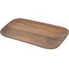 "Carlisle Epicure® Acacia Grain Rectangle Tray 14.75"" x 6.75"" - Dark Woodgrain CFS EAG0769CS"