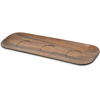 "Epicure® Acacia Grain Flight Tray 13.19"" - Dark Woodgrain"