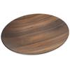 "Carlisle Epicure® Acacia Grain Round Platter 19.25"" - Dark Woodgrain CFS EAG1069CS"