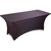 "Carlisle Embrace Rectangle Stretch Table Cover 72"" x 30"" x 30"" - Black CFS EMB5026RT630014CS"