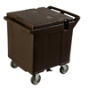 Carlisle Cateraide Ice Caddy (2 Rigid Casters, 2 Swivel Casters) - Black CFS IC225003CS