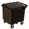 Carlisle Cateraide Ice Caddy (4 Swivel Casters) - Black CFS IC225403CS