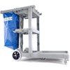 Janitorial Carts, Trucks, and Utility Carts: Carlisle - Long Platform Janitorial Cart - Gray